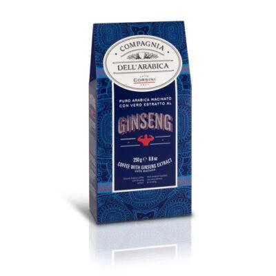 Caffè Corsini - Caffè al Ginseng - Macinato 250gr per Moka
