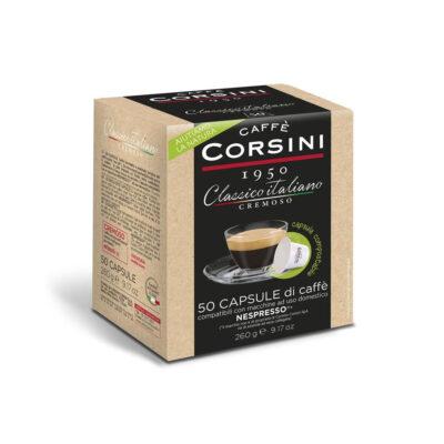 Caffè Corsini - Classico italiano Gusto Cremoso - 50 Cps compatilbili Nespresso (Compostabile)