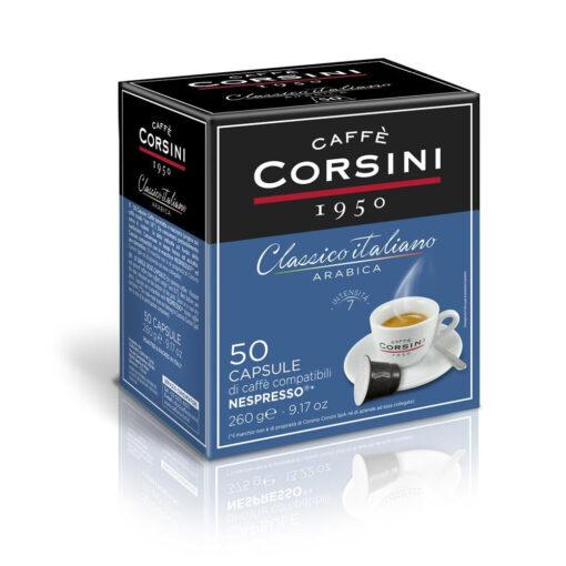Caffè Corsini - Classico Italiano Arabica - 50 Cps compatilbili Nespresso